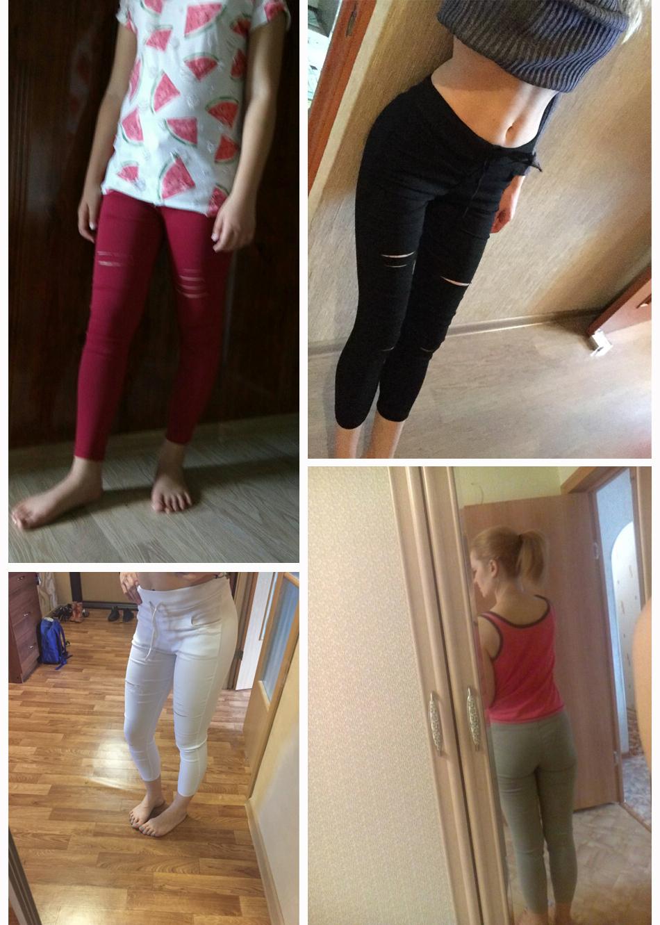 Women's Hollow Solid Cotton Leggings 15