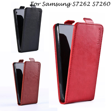 Vertical Magnetic Cover Cases For Samsung Galaxy Star Plus Pro S7262 S7260 GT-S7262 i679 4.0 inch cases Flip Leather Phone Case