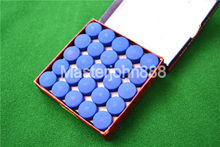 50pcs Glue-on Pool Billiards Snooker Cue Tips 13mm Free Shipping Wholesales(China)