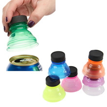 6 Pcs/lot Colorful Tops Reuse Snap Bottle On Pop Soda Can Bottle Drink Lid Caps Openers Wholesale Random Color(China)