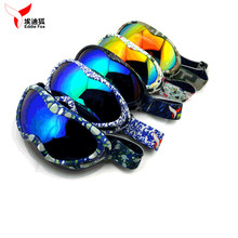 New EDDIE FOX HG-31 Anti-fog Windproof UV400 Kids Ski Goggles Unisex Anti Glare Eyewear For Outdoor With 9 Colors