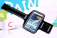 For Samsung Galaxy Note 2 Note 3 Note 4 Note 5 Case Sport Arm Band Soft Running Armband Cover Cases 50pcs(China)