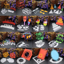 Metal Cutting Dies Bear Birthday Cake Flower Ice Cream Fireworks Number 123 Stencil DIY Scrapbooking Embossing Paper Card Craft(China)