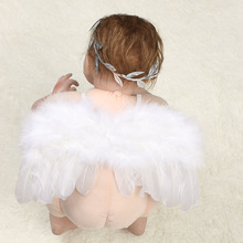 1 Pc Angel Feather Wings Girl Leaves Headband Hair Head Bands Photo Shoot Accessories for Newborns Hairband Photography Props