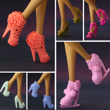 2017 NEW Multi-styles Original High-heel Shoes For Barbie Dolls Fashionable Doll Accessories Free Shipping(China)