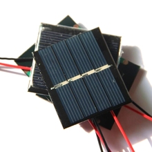 Wholesale! 100PCS/Lot 0.36W 2V Mini Solar Cell With Cable Epoxy Solar Panel Easy DIY Solar Charger/Toys/System Free Shipping(China)