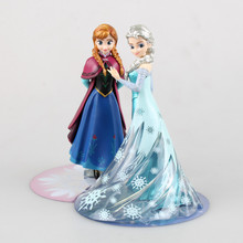 high quality action figure Unique Gifts Sweet Cute Girls Toys Princess Anna and Elsa Doll Pelucia Boneca Disny Princesa Juguetes