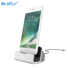 RAXFLY Charger Dock Station For iPhone 6 6s 7 8 Plus X 5s Desktop Holder Stand Cradle Fast Adapter Mobile Phone Smart Charging