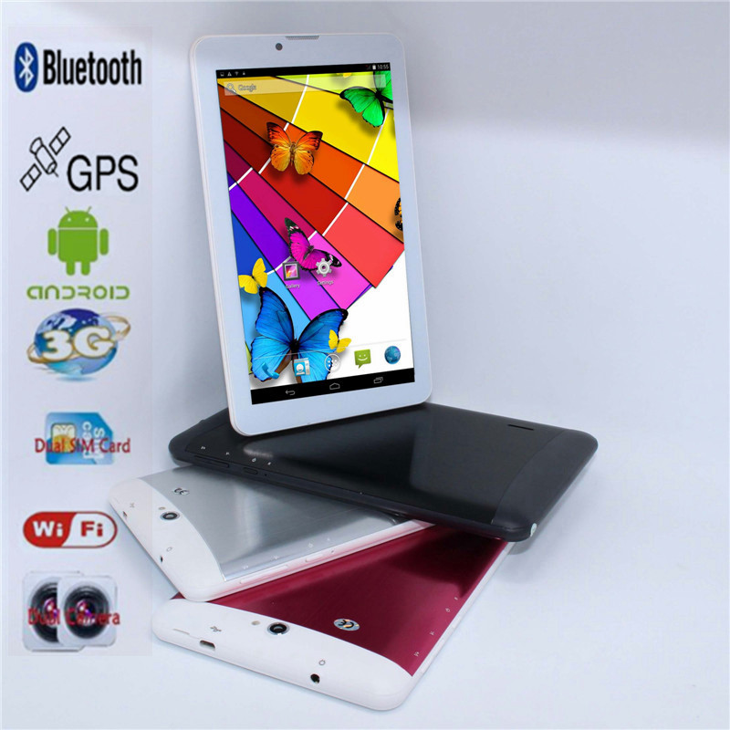 "Sale!!!7"" Mini Cheap Tablet pc Andriod 4.2 MTK6572 512MB/4GB Dual Core 3G Phone call Dual SIM GPS wifi buletooth GSM/WCDMA(China)"