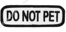 "3"" DO NOT PET Service Dog Guide Animal Medical Disability Assistance Pet Iron On Patch Tshirt TRANSFER APPLIQUE Rock Punk Badge"