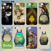 MOUGOL Totoro Mononoke Studio Ghibli anime style transparent clear Cases Cover for Apple iPhone SE 5 5s 7 7Plus 6 6s Plus 4s 5c