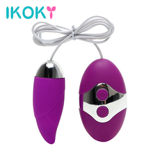 Buy IKOKY Vibrating Egg 10 Speed Bullet Vibrator Remote Control G-Spot Massager Sex Toys Women Clitoris Stimulator Adult Product