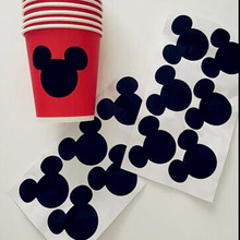 12pcs Mickey Mouse Sticker Vinyl Decals , Chalkboard Labels, envelope seal, Kids gift(China)