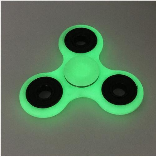 HOT Lighting White Tri-Spinner Fidget Toy ABS Plastic EDC Hand Spinner Autism ADHD Rotation Long Time Stress Relief Toys