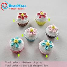Min order $10 kawaii scrapbook Resin Cute flower cream cake colors crafts Flatback Cabochon 50pcs 18*12mm Free shipping DIY 070