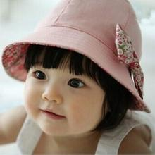 Summer Baby Infant Lace Floral Bowknot Floral Bonnet Hats Sun Hat Bucket