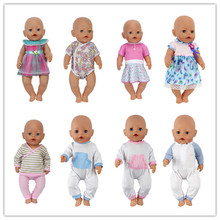Hot 7style choose clothes Wear fit 43cm Baby Born zapf, Children best Birthday Gift(only sell clothes)(China)