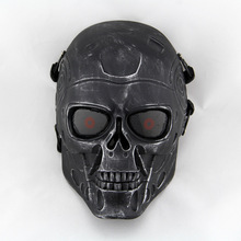 CS Cosplay M05 Horror Skull Zombie airsoft mask Plastic Half Face paintball Mask Hallowmas Horrible Party Masks for Halloween(China)