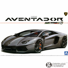 OHS Aoshima 00142 1/24 Aventador LP700-4 Scale Assembly Car Model Building Kits
