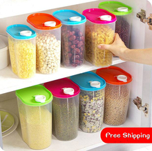 Kitchen Accessories Food Container Thickening Transparent Plastic Jar Grains Preservation Tank Food Storage Box 3 Pieces/Lot(China)