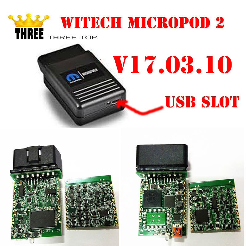 Top selling WITECH MicroPod 2 V17.03.10 VERSION For Chrysler Support Multi-Languages Chrysler latest diagnostic tool by free dhl(China)