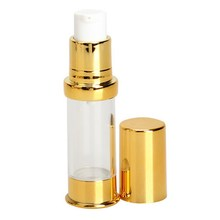 10ML Refillable Bottles Cosmetic Vacuum Flask Pump Bottle Gold Cap For Perfume Essence Lotion Makeup(China)