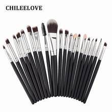 CHILEELOVE 20 pcs Women Professional Eye Shadow Foundation Eyebrow Lip Brush Makeup Brushes Comestic Tool Makeover Department