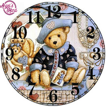 DIY 5d diamond painting picture diamond embroidery cartoon bear pattern cross stitch diamond mosaic painting rhinestones(China)