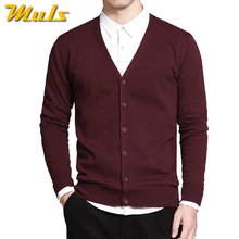 6Colors Men Cardigan Sweater Pure Cotton Knited Sweater Men Spring Autumn Winter Male Cardigans Brand Muls Fitted M L XL 2XL 3XL(China)