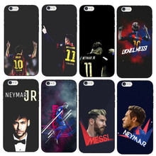 Barcelona Soccer Star Ronaldo Messi Neymar Jersey Pattern Soft TPU Phone Cases For iPhone 7 7Plus 6 6S Plus 6Plus 5 5S SE Cover(China)