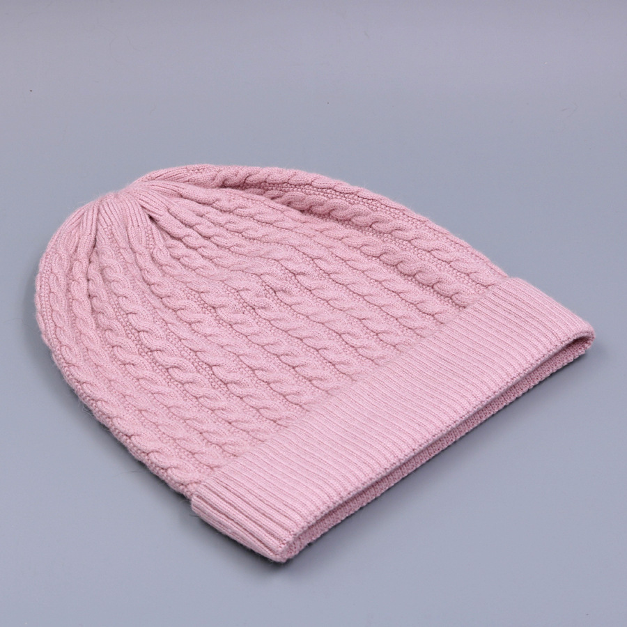Women's Winter Hat Knitted Wool beanies Skullies Female Causal Mask Ski Thicker Warm Pompon Hats For Women  (11)