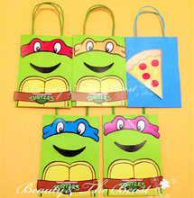 Ninja Turtle Favor Bag Gift bag Birthday Party Decorations Kids Party Supplies Baby Shower Candy Bar