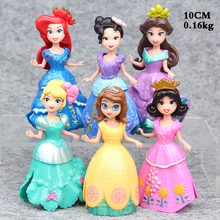 NEW hot 10cm 6pcs/set Sofia princess Can change clothes action figure toy collectors Christmas gift doll 3dai(China)