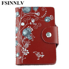 Buy FSINNLV Genuine Leather Unisex ID Card Holder 11 Colors Card Wallet Credit Card Business Card Holder Protector Organizer DC57 for $7.33 in AliExpress store
