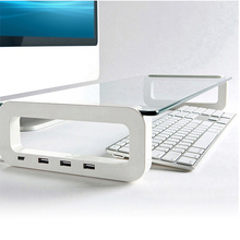Imac usb multifunction computer support glass Stand for MacBook Air/Pro ABS Laptop Lapdesks Holder Bracket for Laptop PC(China)