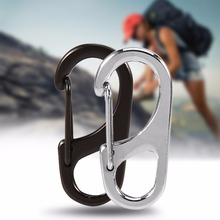 5 PCS /Lot Camping Hiking  Metal Alloy EDC Key Set Kits Quick Release Carabiner Clip KeyChain Useful Hiking Tools
