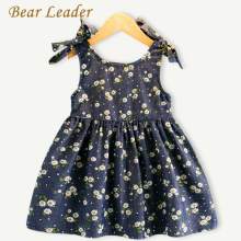 Bear Leader Girls Dress 2017 New Summer Style Bow Princess Dress Sleeveless Small Floral Pring Design for Baby Girls Dress 3-7Y(China)