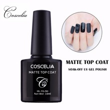 COSCELIA Matt 10ml Gel Nail Polish Surface No Light Soak-Off Matt Top Coat UV LED Transparent Color Nail Gel Polish Matte Art(China)