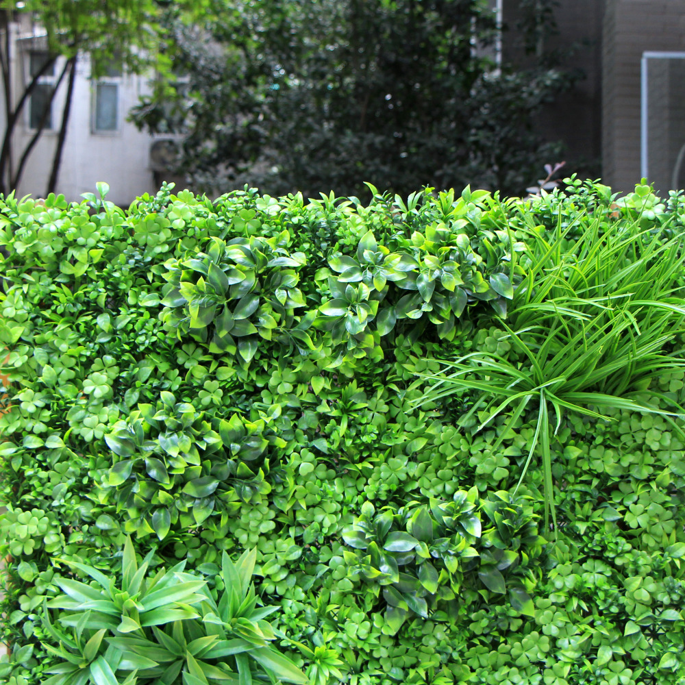 Artificial Boxwood Panels Hedge Wall Privacy Screen Topiary Plant 1x1m Greeny Walls DIY Mats Fencing Backyard Garden Decoration2
