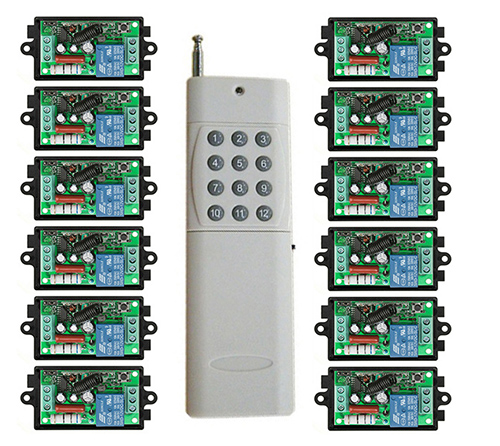1000M Long Range AC220V 1CH RF wireless remote control switch System Transmitter+ Receiver light /lamp/ window/Garage Doors<br>