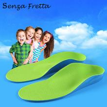 Senza Fretta Children Kids Eva Orthopedic Insoles Children Flat Foot Arch Support Orthotic Pads Correction Health Feet Care(China)