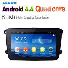8inch Ultra Slim Android 4.4.2 Quad Core Car Media Player With GPS Navi Radio  For VW Golf 5/6/Polo/Passat/Jetta/Tiguan/Touran