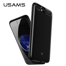 For iPhone 6 6S 7 8 Plus Power Bank Case USAMS Battery Charger Case External Pack Backup Portable charger case 3000/4200mah(China)