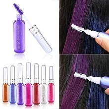 1PC Cosplay Fashion Temporary Hair Color Party Queen Vibrant Glitter Instant Highlights Streaks Hair Mascara Dye Cream Y2-5