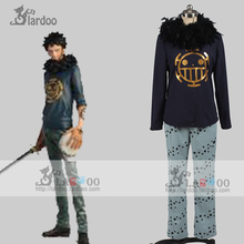 Japanese Anime One Piece Cosplay Costume Trafalgar Law Halloween Costumes Full Set for Men/Women