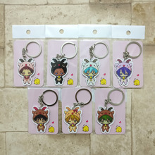 7PCS/lot Kuroko's Basketball Keychain Kuroko  Kagami  Key Chains Pendant Hot Sale Custom made Anime Key Ring HS01