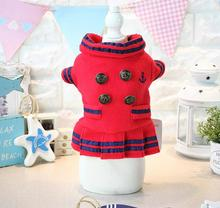 Autumn winter fashion dogs cats dress doggy warm sofy jackets puppy hoodies clothes pet dog cat sweaters clothing 1pcs XS-XL