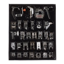 32pcs Domestic Sewing Machine Presser Foot Feet Kit Set With Box For Brother Singer Janom(China)