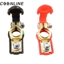 2 Pcs Battery Terminal for Car Clamp Clips Negative Positive Aluminum Alloy Connector Auto Replacement