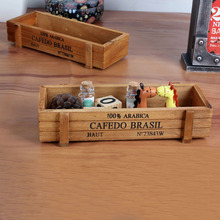 New Fashion 1pc Antique Wooden Table Sundries Container Cosmetics Jewelry Storage Box Home Storage Box Wooden Jewelry Holder(China)